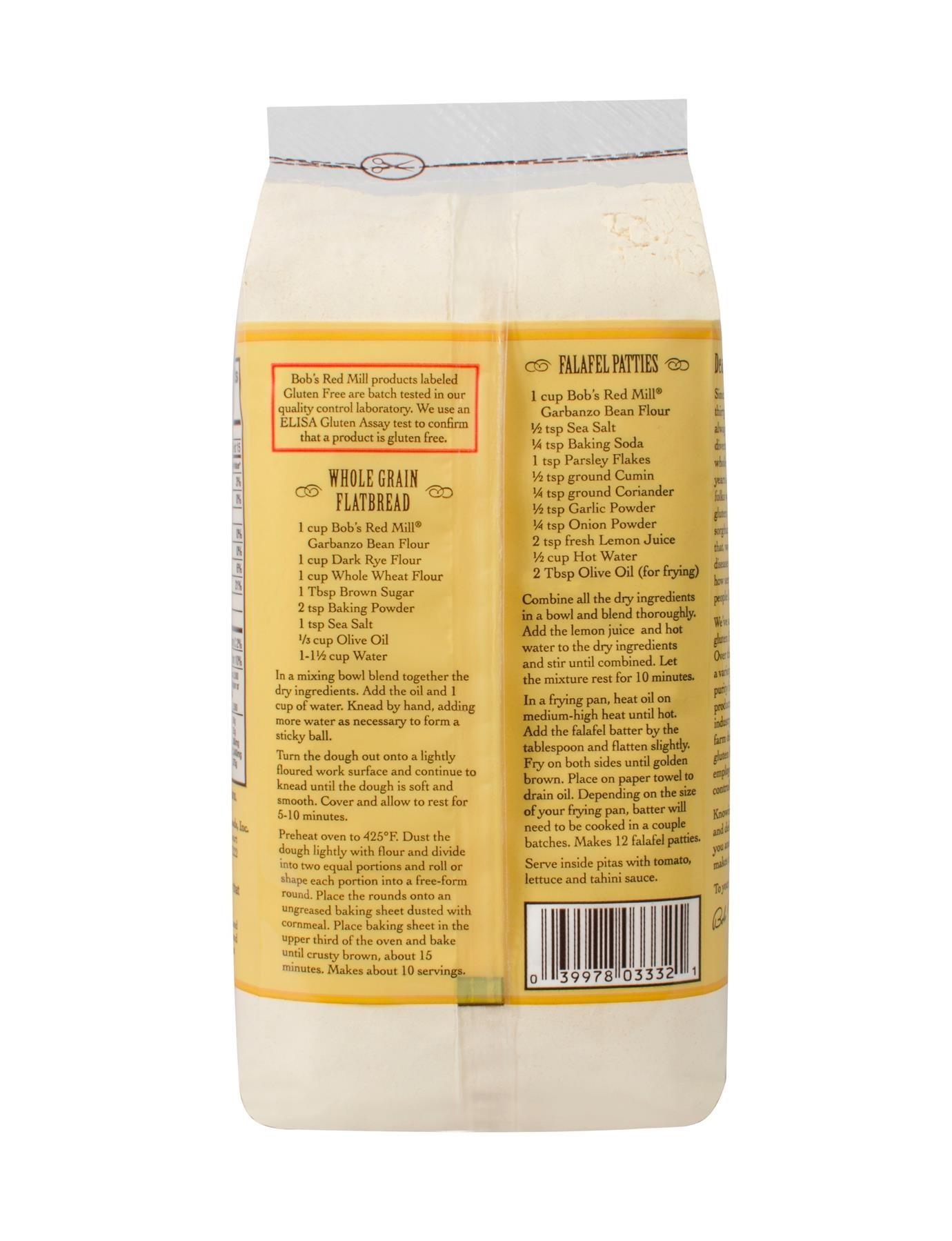 Bob's Red Mill Gluten Free Garbanzo Bean Flour 4/16oz