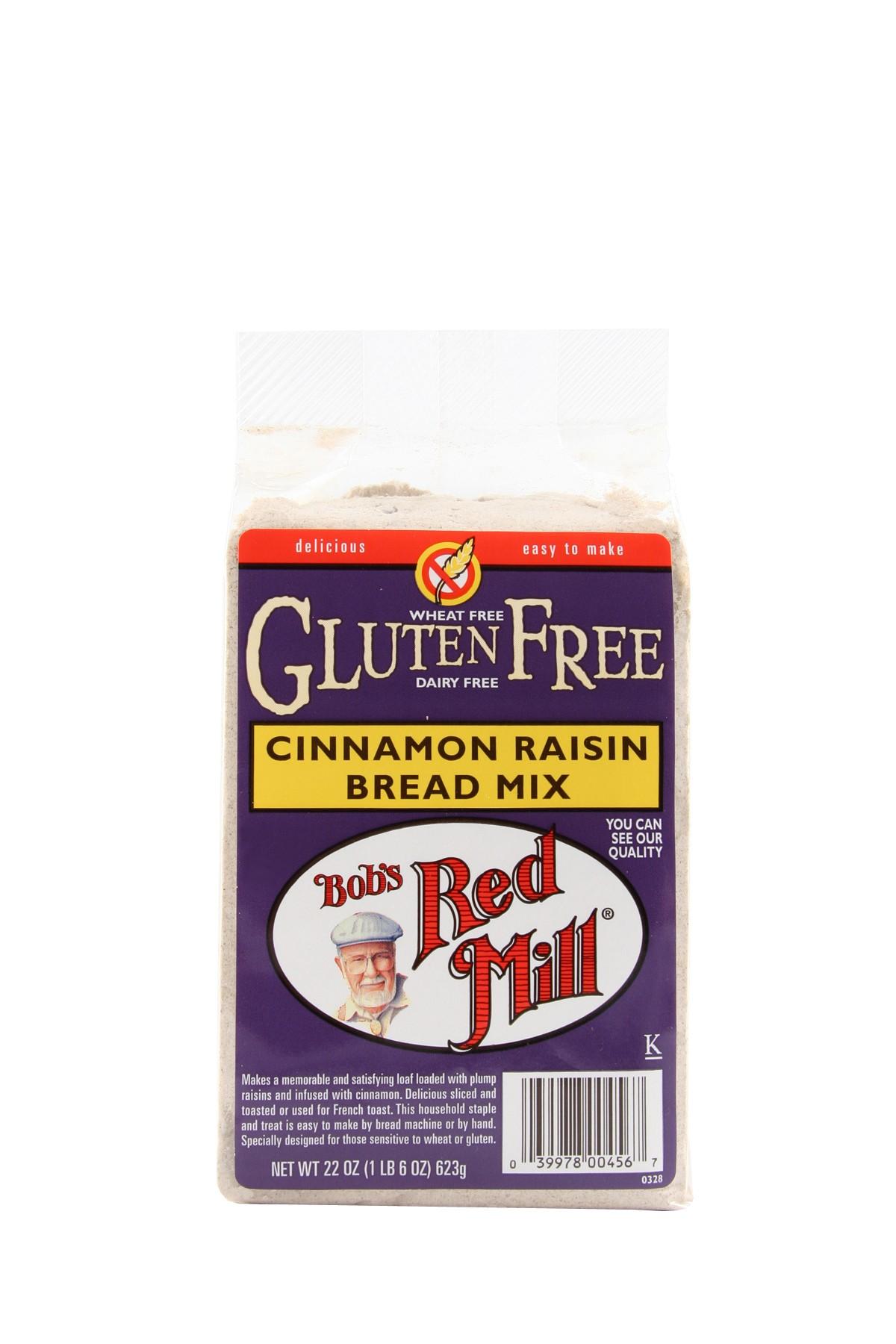 Bob's Red Mill Gluten Free Cinnamon Raisin Bread Mix 4/22oz – Mill ...