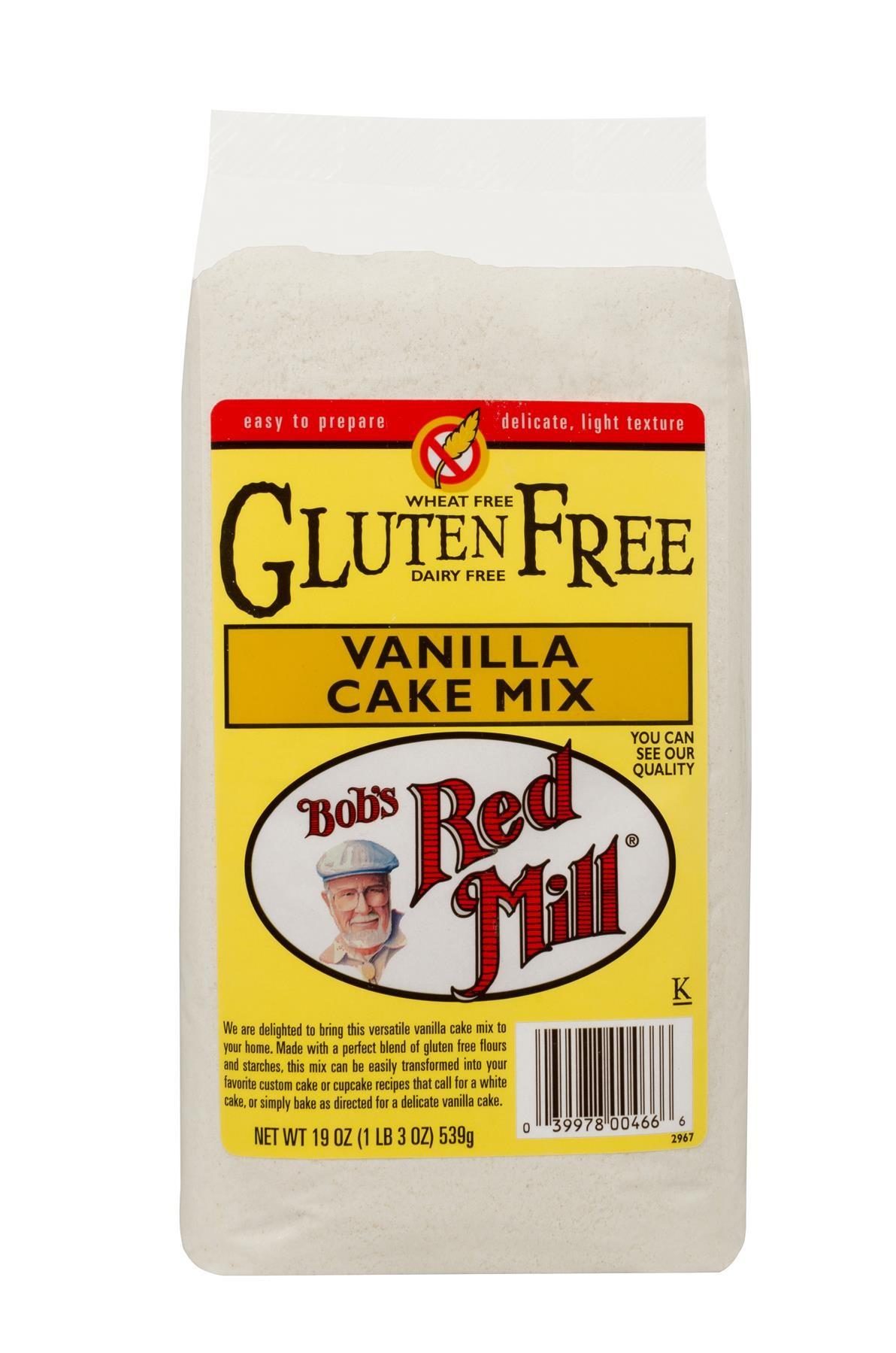 Bob S Red Mill Gluten Free Vanilla Cake Mix 4 19oz Mill