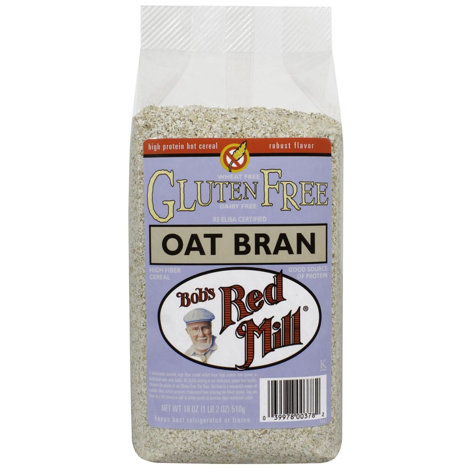 Bob's Red Mill Gluten Free Oat Bran 16 oz or 4/16oz – Mill