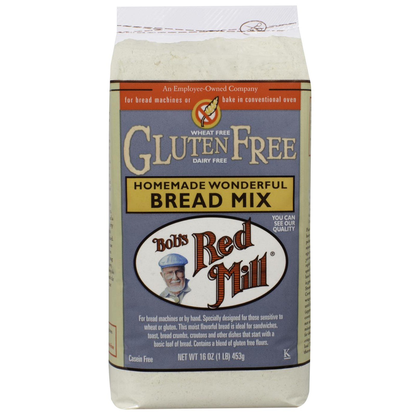 Bob's Red Mill Gluten Free Homemade Wonderful Bread Mix 4/16oz